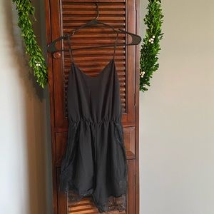 Black sheer romper